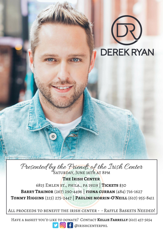 Irish Country Star Derek Ryan to perform live at the Irish Center